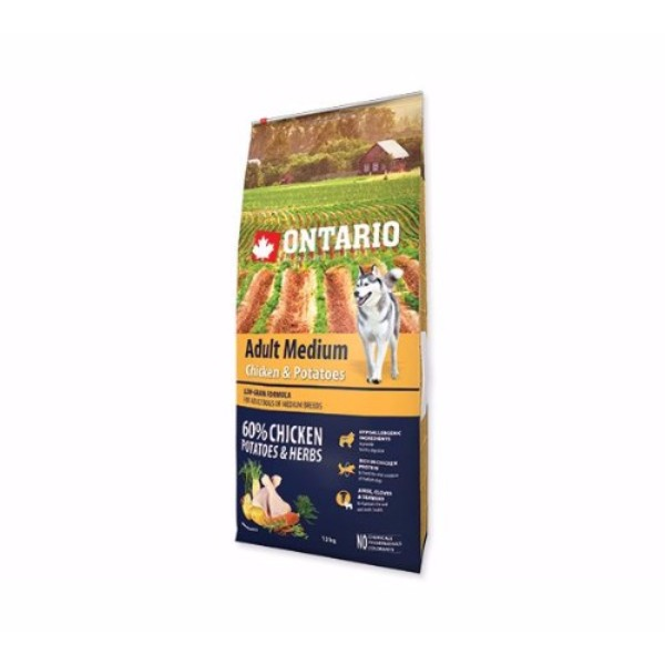 Ontario Adult Medium - piščanec in krompir 12 kg
