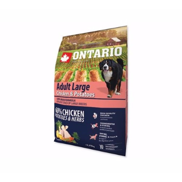 Ontario Adult Large - piščanec in krompir 2,25 kg