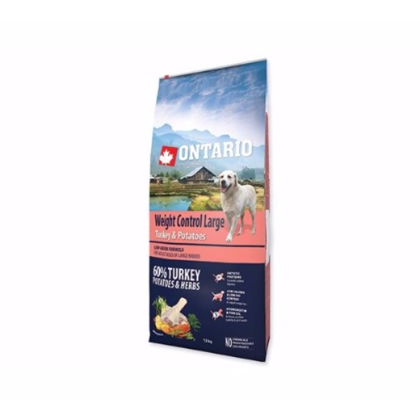 Ontario Adult Large Weight Control - puran in krompir 12 kg