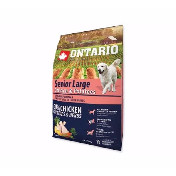 Ontario Senior Large - piščanec in krompir 2,25 kg