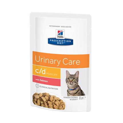 Hill's veterinarska dieta c/d, vrečka - losos - 85 g