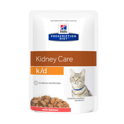 Hill's veterinarska dieta k/d, vrečka - losos - 85 g