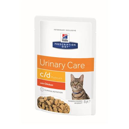 Hill's veterinarska dieta c/d, vrečka - piščanec - 85 g