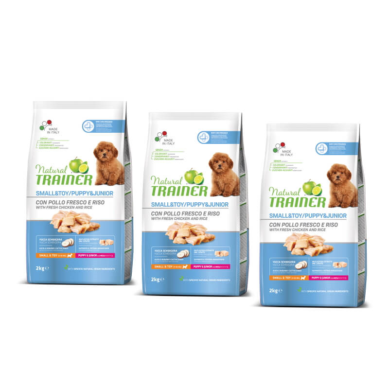 Trainer Natural Puppy&Junior Small - sveži piščanec 3 x 2 kg