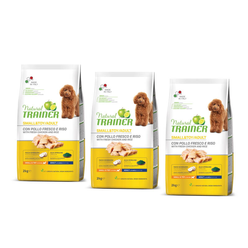 Trainer Natural Adult Small - sveži piščanec 3 x 2 kg