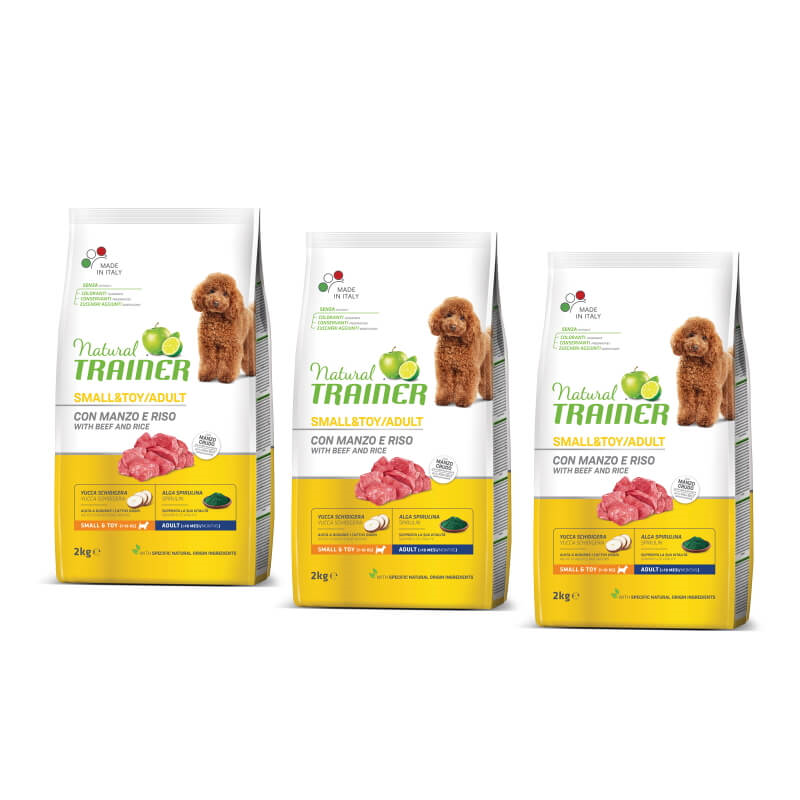 Trainer Natural Adult Small - govedina in riž 3 x 2 kg