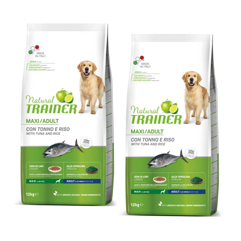 Trainer Natural Adult Maxi - riba in riž 2 x 12 kg