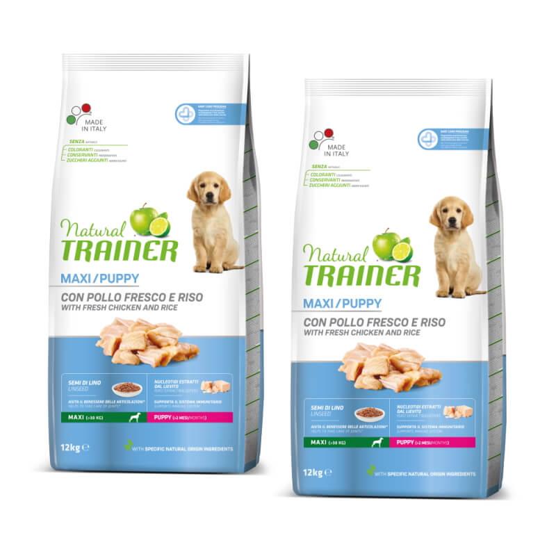 Trainer Natural Puppy Maxi - sveži piščanec 2 x 12 kg