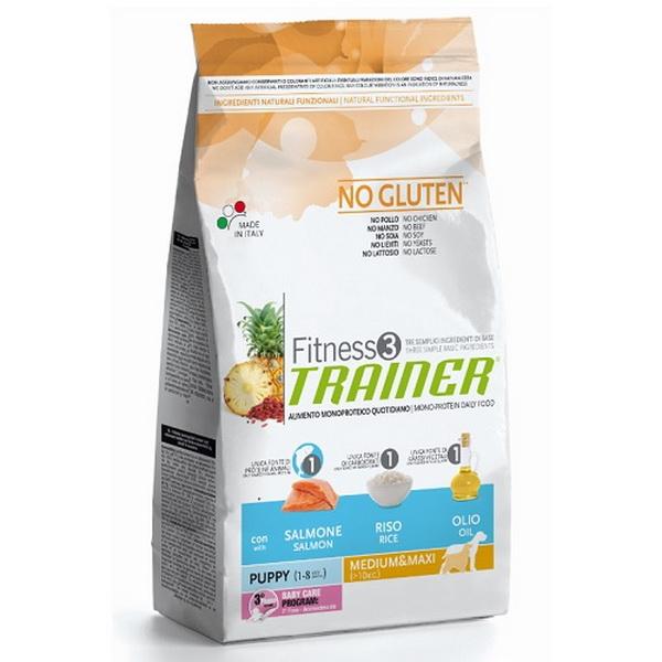 Trainer Fitness3 Puppy Medium/Maxi - losos in riž