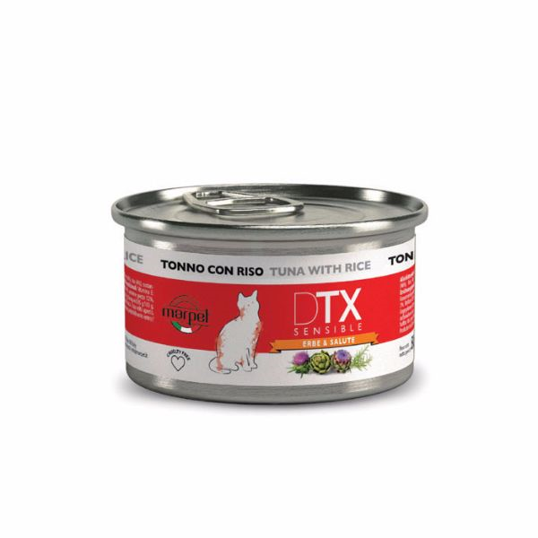 DTX Cat konzerva - tuna in riž - 80 g
