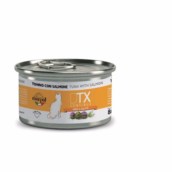 DTX Cat konzerva - tuna in losos - 80 g