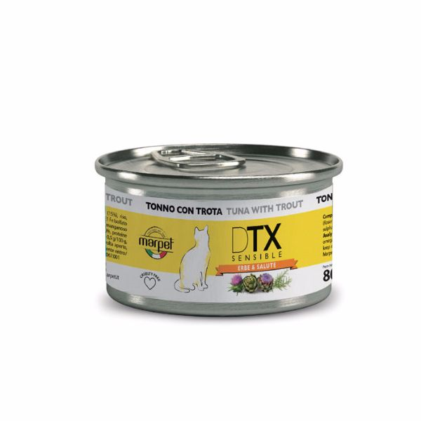 DTX Cat konzerva - tuna in postrv - 80 g