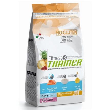 Trainer Fitness3 Puppy Medium/Maxi - losos in riž 2 x 12,5 kg