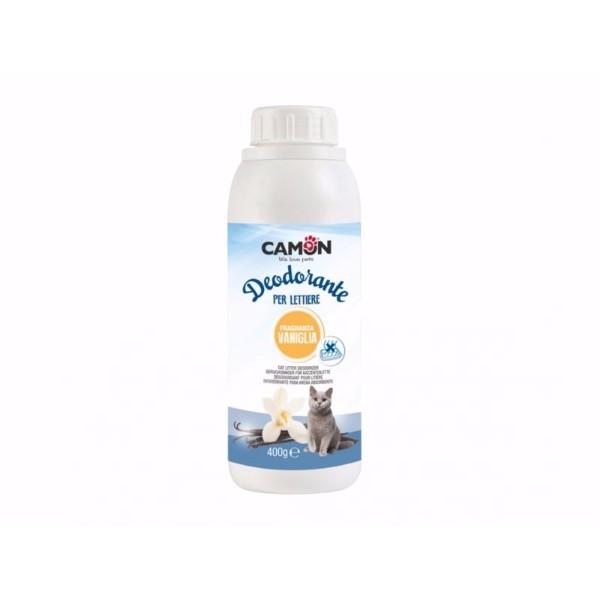 Camon Deo osvežilec za mačji posip, vonj vanilije - 400 g