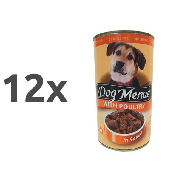 Dog Menu - perutnina 12 x 1240 g