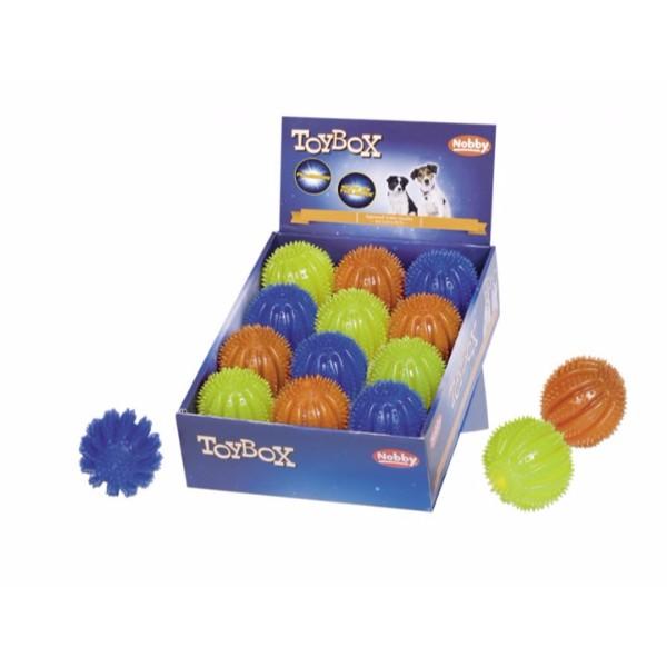 Nobby TPR bodičasta žoga z lučko Flash & Glow - 6,5 cm