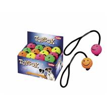 Nobby žoga na vrvi Smiley, guma - 6,3 cm