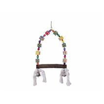 Nobby gugalnica s kockami in zvončki - 35 x 18 cm