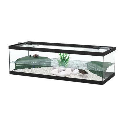 Aquatlantis akvaterarij Tortum za vodne želve, črn - 104 x 40 x 30 cm