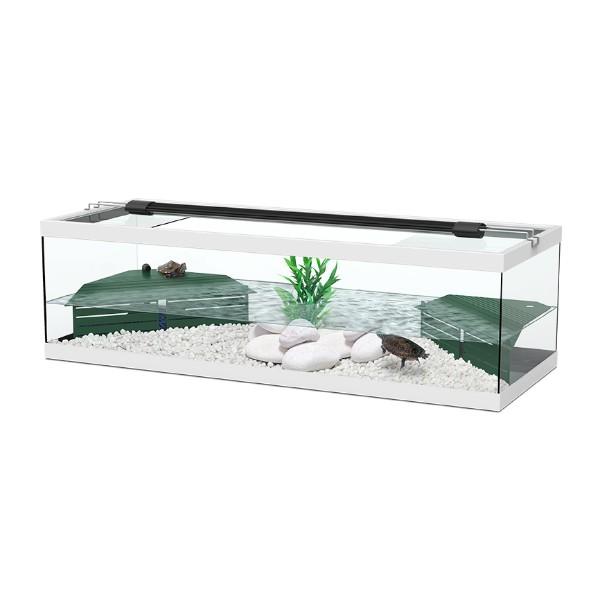 Aquatlantis akvaterarij Tortum za vodne želve, bel- 104 x 40 x 30 cm