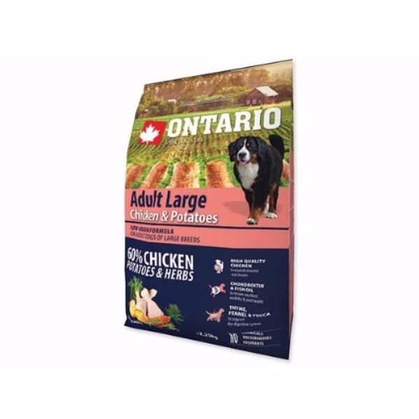 Ontario Adult Large - piščanec in krompir 2 x 12 kg