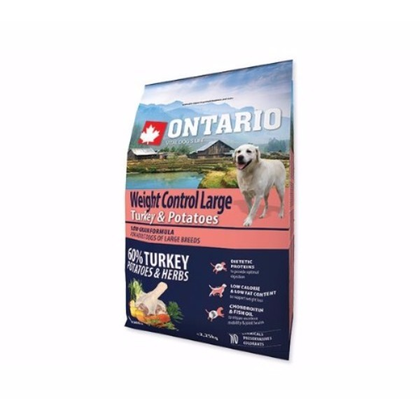 Ontario Adult Large Weight Control - puran in krompir 2 x 12 kg