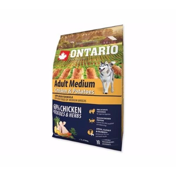Ontario Adult Medium - piščanec in krompir 2 x 12 kg