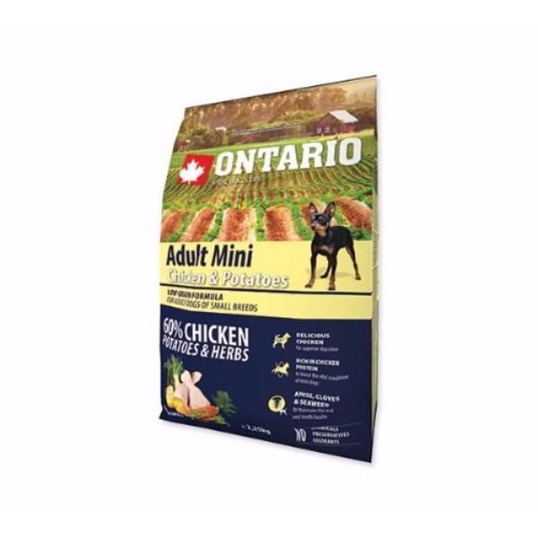 Ontario Adult Mini - piščanec in krompir 3 x 2,25 kg