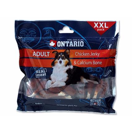 Ontario Snack Chicken Jerky + kalcij - 500 g