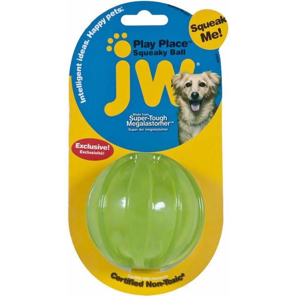 JW piskajoča žoga zelen Squeaky, S