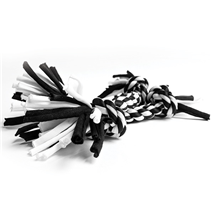 Nobby igralna vrv z vozli, črno-bela - 10 g
