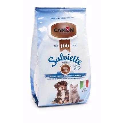 Camon čistilni robčki, mleko in med - 100 kos