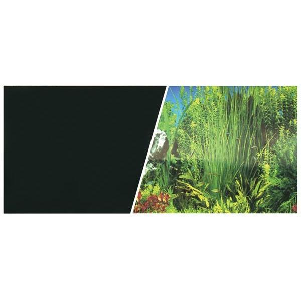 Marina ozadje tapeta, rastlinski akvarij / črno - 45 cm (cena za meter)