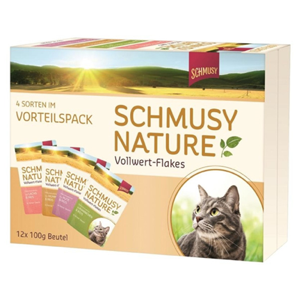 Schmusy Nature Multibox, 4 okusi - 12 x 100 g