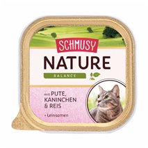 Schmusy Nature alutray - puran in kunec - 100 g