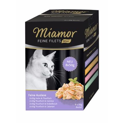 Miamor Multibox Feine Auslese, 4 okusi - 8 x 50g