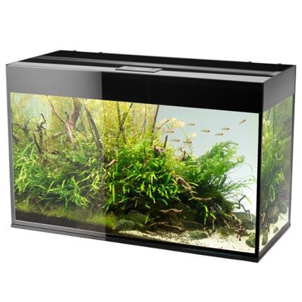 Aquael akvarij Glossy 150 LED, črn - 150 x 50 x 63 cm (405 l)