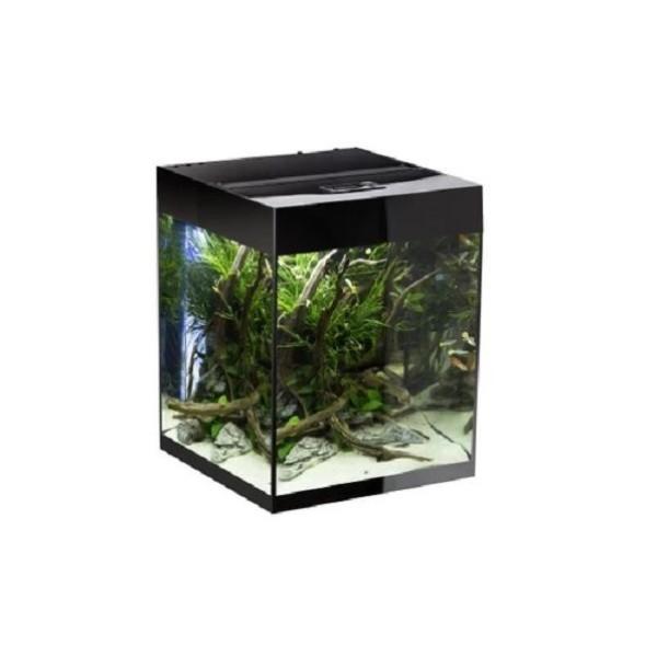 Aquael akvarij Glossy Cube LED, črn - 50 x 50 x 63 cm (132 l)