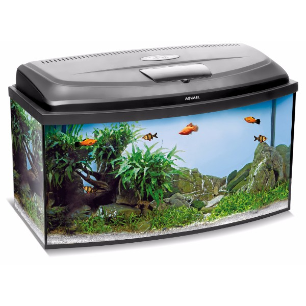 Aquael akvarij Classic Box LED oval (102 l) - 80 x 35 x 40 cm
