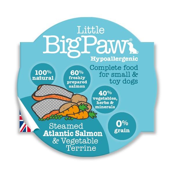 Little Big Paw alu posodica - losos in zelenjava 8 x 85 g