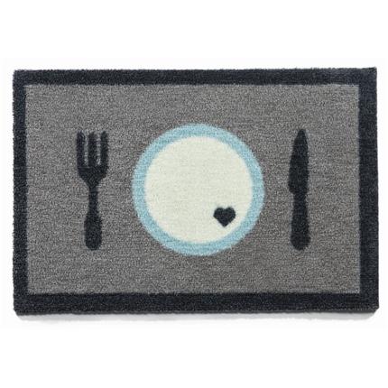 Preproga pogrinjek Dinner, siva - 40 x 60 cm