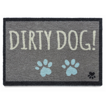 Preproga Dirty Dog, siva - 50 x 75 cm