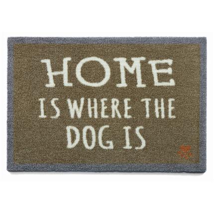 Preproga Home Is Where The Dog Is, kaki - 50 x 70 cm