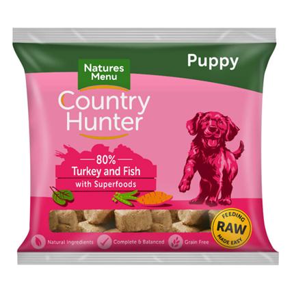 Natures Menu Country Hunter Nuggets za mladičke - puran in losos - 1 kg