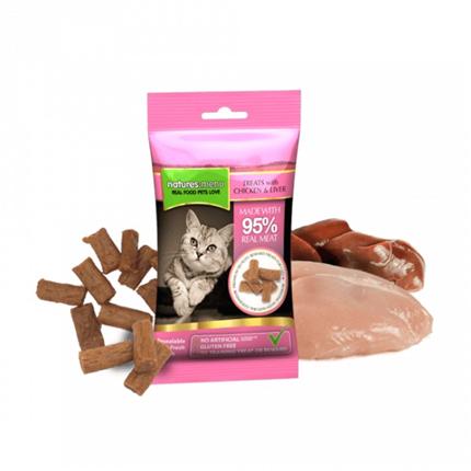 Natures Menu mačji priboljški - piščanec in jetra - 60 g