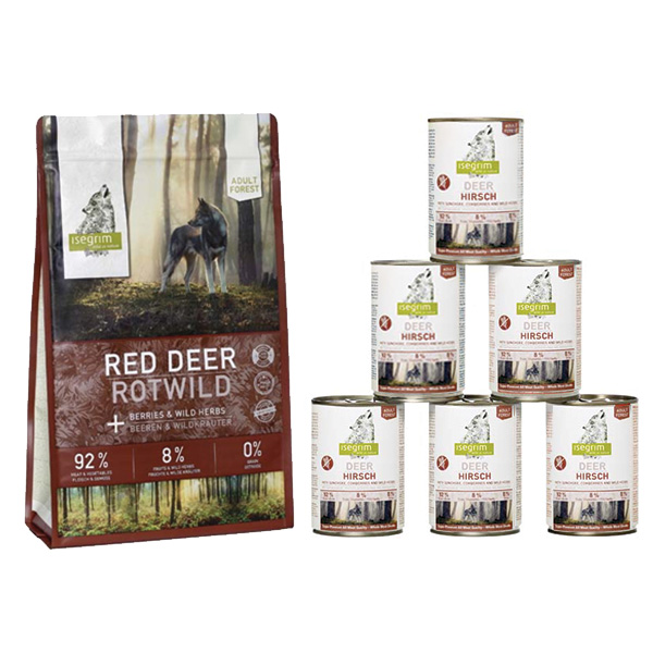 Isegrim Forest Adult - jelen 12kg + 6x400g pločevinka
