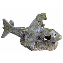 Nobby akvarijski dekor letalo - 21,8 x 17,5 x 8,3 cm