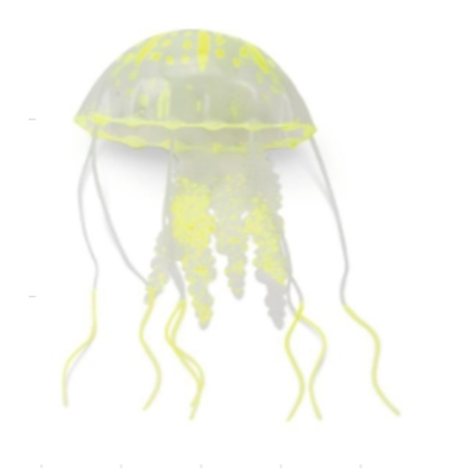 Beeztees dekor meduza silikon Fluorescent, rumena