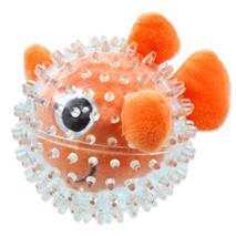 Dog Fantasy gumi žoga z bodicami ribica - 9 cm