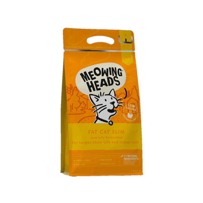 Meowing Heads Fat Cat Slim - piščanec in losos - 1,5 kg